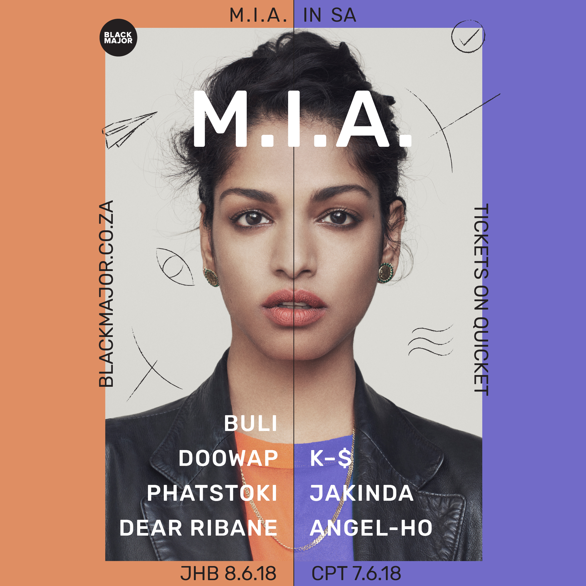 M.I.A comes to South Africa in June - Image courtesy of  - Black Major Selects