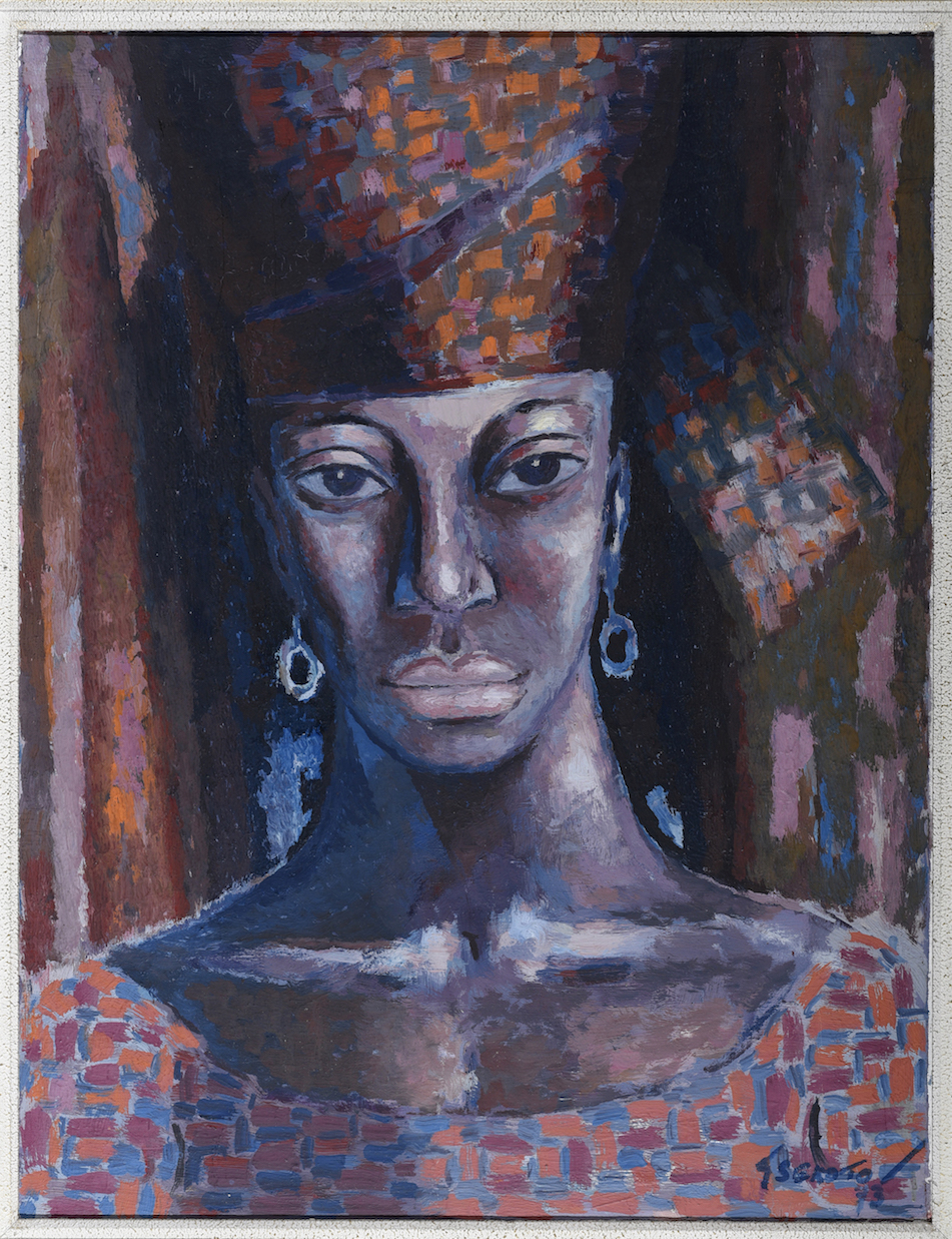 'A Black Aesthetic: A view of South African Artists (1970 -1990)' | A challenge to existing ideas of South African art history - 'The Senegal Woman', 1973 by  - Gerard Jan Sekoto